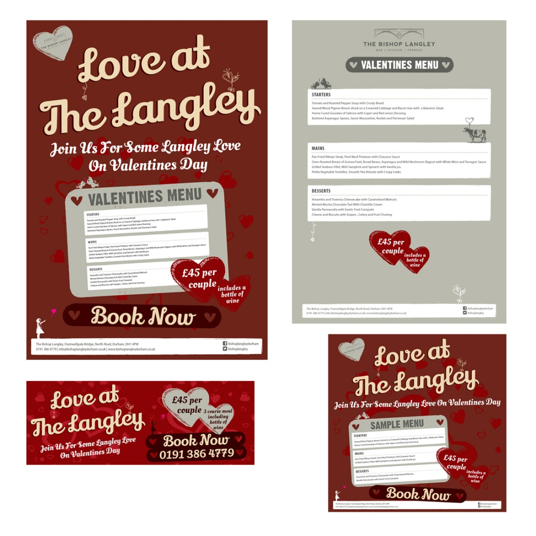 Valentines Day Promotional Package - Poster, Menu, Facebook Cover, Facebook News Feed Splash