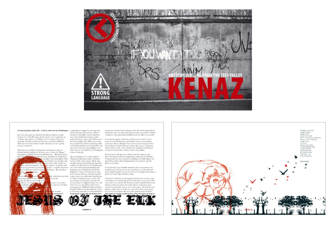 Kenaz Magazine - Issue 1 Cover and Page Spread