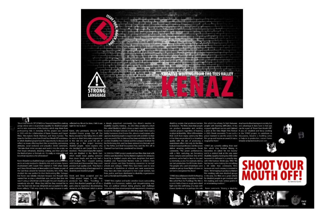 Kenaz Magazine - Issue 4 Cover and Page Spread