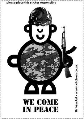 Mr Armyman (Smileyman's Evil Twin) Sticker Print Illustration