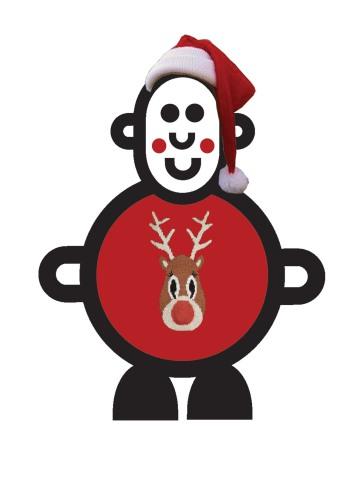 Mr Santaman Christmas Jumper Illustration