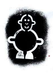 Mr Smileyman Art Print