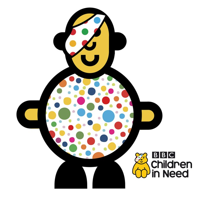 Mr Smileyman Pudsey Children in Need Illustration