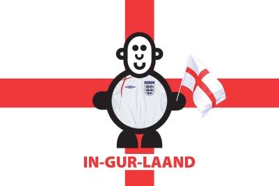 Mr Smileyman Supporting England Illustration