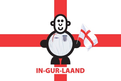 Mr Smileyman Supporting England Illustration