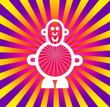 Mr Smileyman Sunrise Psychedelic Illustration