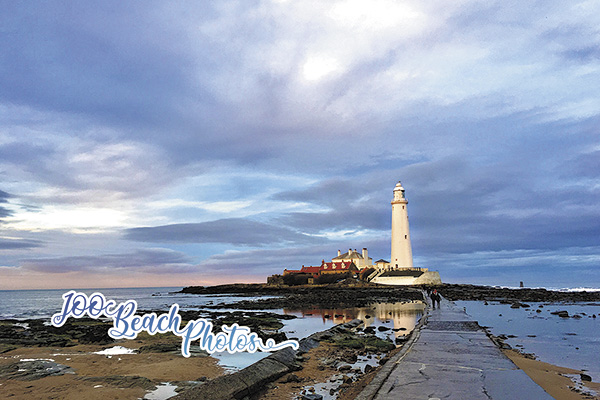 st marys light house whitley bay with 100 beach photos logo