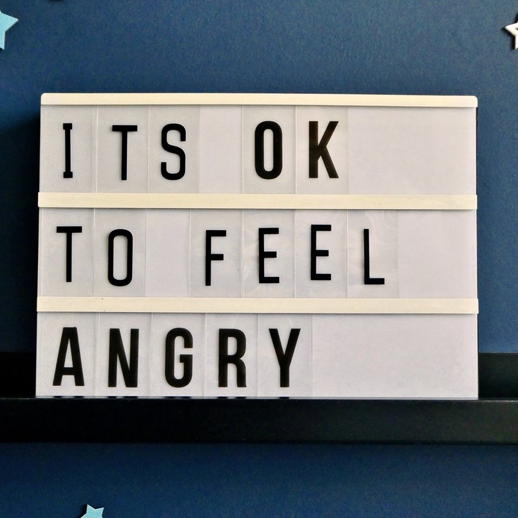 It's OK to feel angry Lightbox Quote