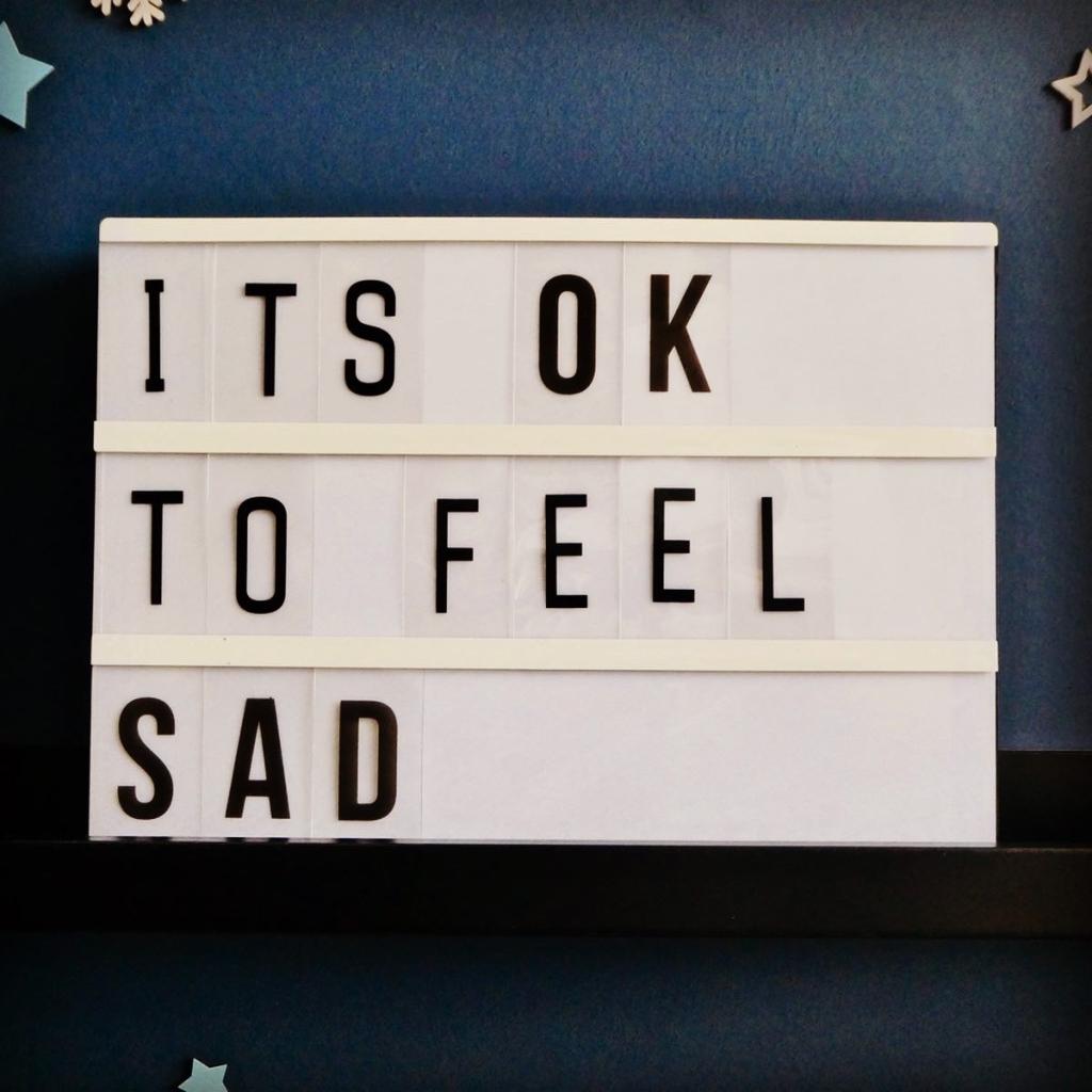 It's OK to feel sad Lightbox Quote